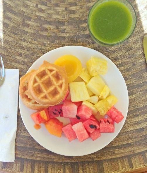 tropical breakfast in cancun