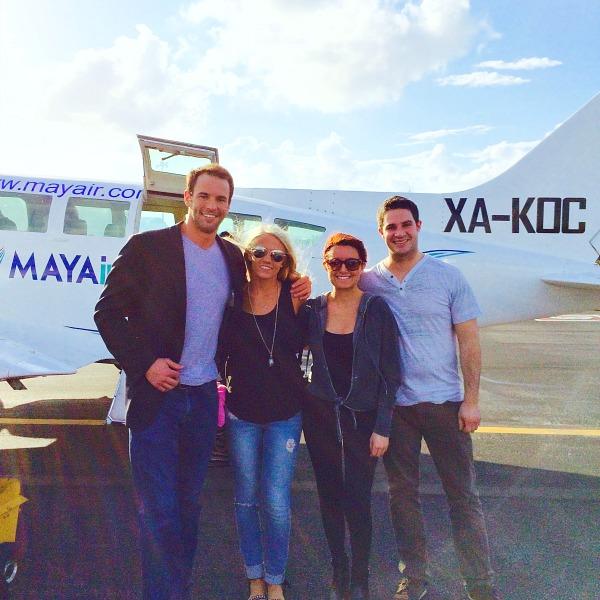 small plane ride to cancun
