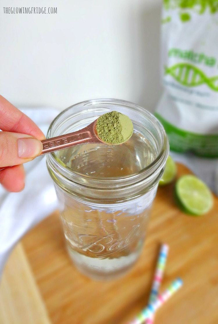 Super Easy All-Natural Energy Drink - homemade pure and healthy energy that's ready in 30 seconds. The healthy replacement for coffee and sugary drinks for focus, concentration and energy! From The Glowing Fridge.