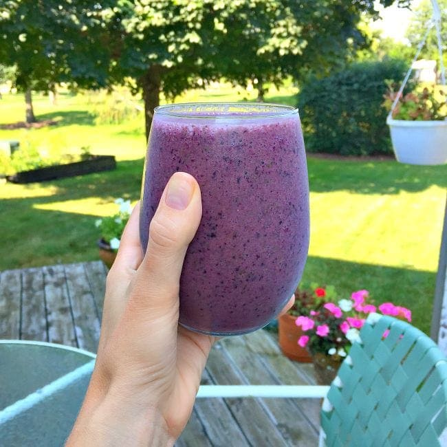 What I Ate - Purple Power Smoothie