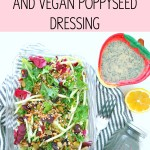 Sweet Kale Salad & Vegan Poppyseed Dressing