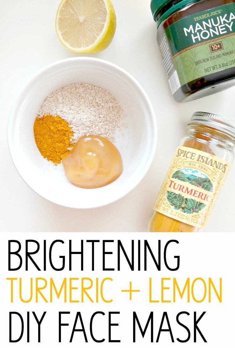 Glowing Skin Series: Brightening Turmeric + Lemon DIY Face