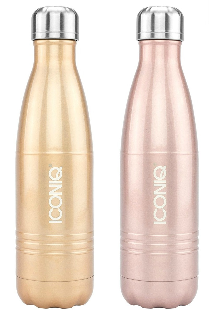 chic rose gold water bottle
