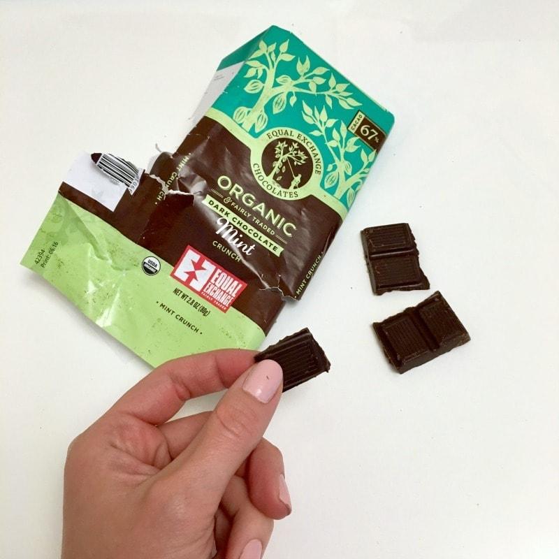 Crunchy Mint Vegan Dark Chocolate