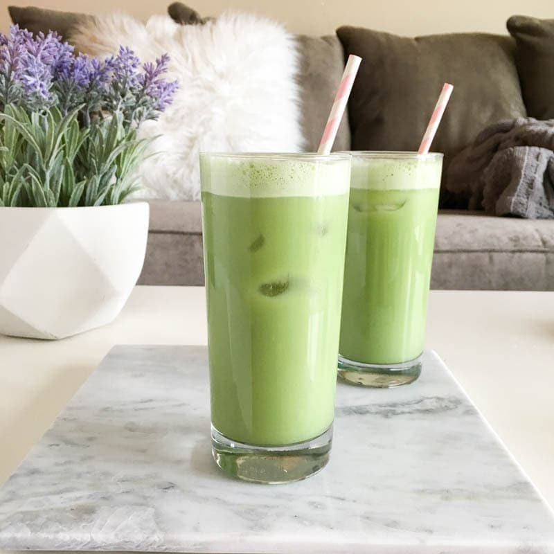 What I Ate Wednesday - Iced Matcha Green Tea Latte