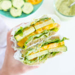 Spicy Avocado Ranch Cucumber Sandwich