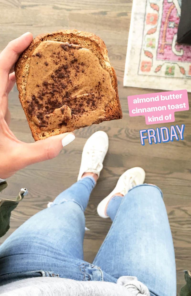 Almond Butter Cinnamon Toast