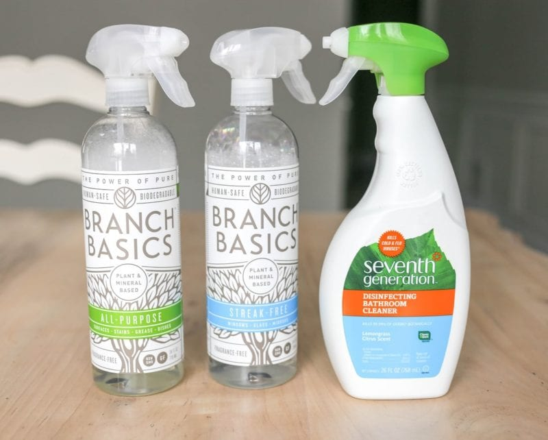 My Favorite Green Cleaning Products. Eco-friendly, plant based and natural cleaning. Laundry, kitchen, bathroom. #greencleaning #plantbasedcleaners