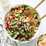 Greek Chopped Chickpea Salad with Spicy Vinaigrette
