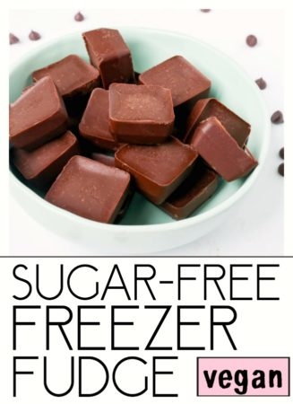 Sugar-Free Freezer Fudge. Easy, simple, 5-ingredient Vegan, Gluten Free and Sugar-Free! #vegan #freezer #fudge #chocolate