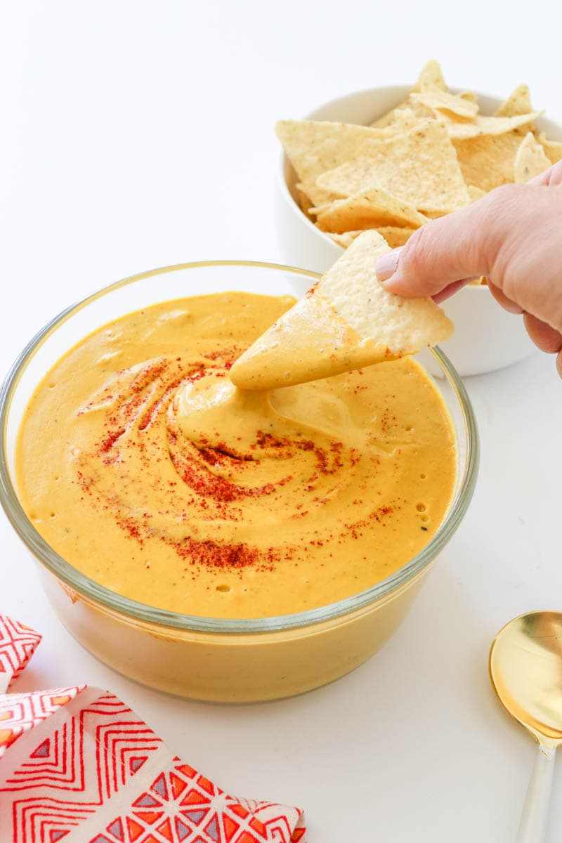 Healthy Vegan Nacho Cheese. Gluten Free. The Best Cashew Cheese Sauce. Rich, creamy, dreamy and luxurious. Easy to make. Cheese Sauce or Cheese Dip.