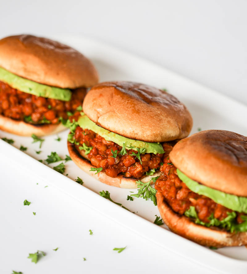 Vegan Sloppy Joes. A smoky, savory and simple plant-based delicious anytime meal that is sure to please. Full of protein and fiber for a hearty sloppy joe! #vegan #sloppy #joe #recipe
