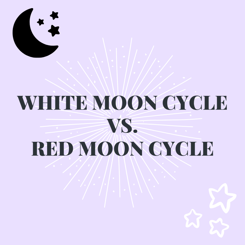 Cycling With The Moon. White Moon Cycle vs. Red Moon Cycle and the difference between. How to align your menstrual cycle with the moon cycle. #mooncycle #moonphases #whitemooncycle #redmooncycle