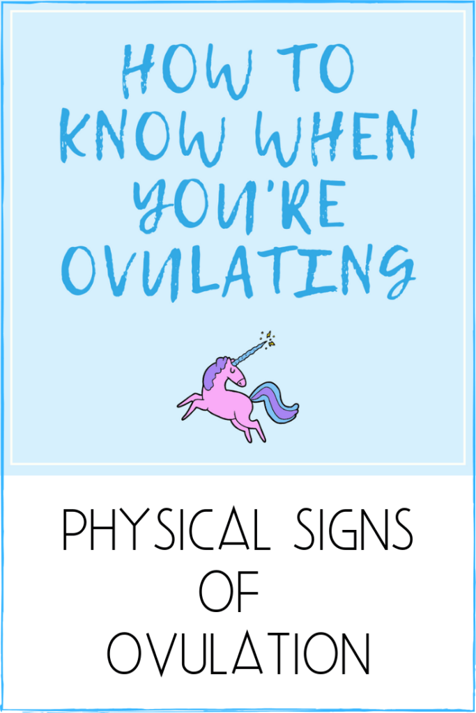 Physical Signs of Ovulation. How To Know When You are Ovulating and what to look for. Fertile mucus, BBT, twingy cramps and more. #ovulation #symptoms