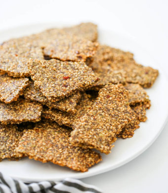 gluten free spicy seed crackers homemade