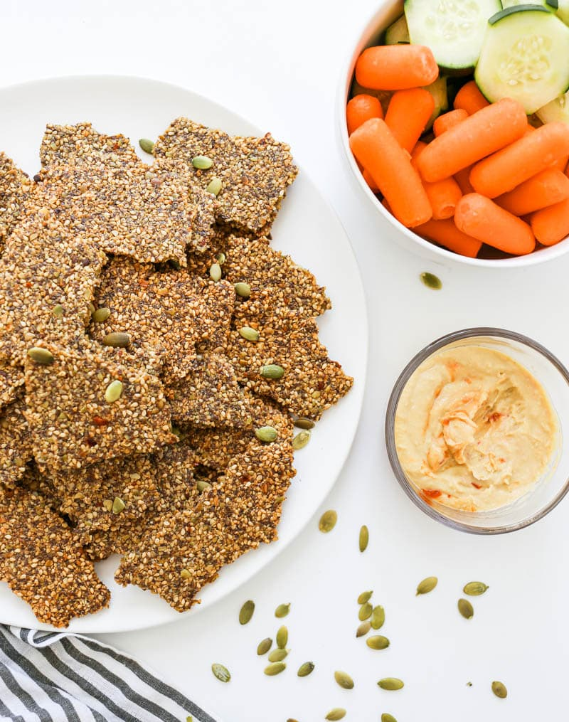 Gluten Free Spicy Seed Crackers. Homemade cracker recipe! Easy and fun to make.