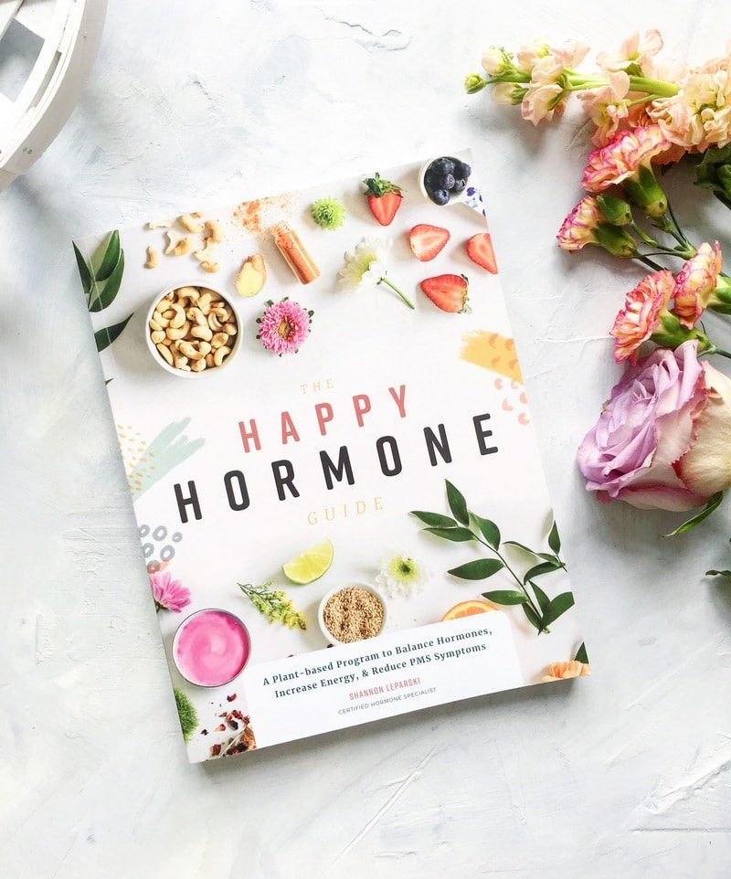 The Happy Hormone Guide. A plant based vegan lifestyle program to balance your hormones, decrease PMS symptoms and increase energy!