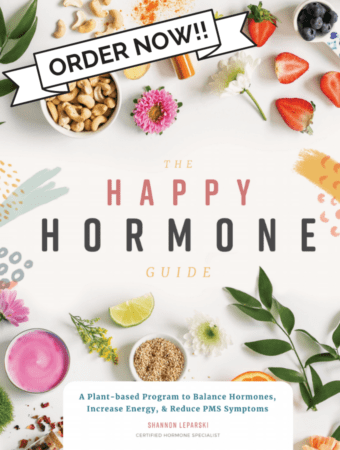 A look inside The Happy Hormone Guide. The first ever plant-based vegan book for balancing hormones, increasing energy and reducing PMS symptoms. With recipes and lifestyle tips for each phase of your menstrual cycle. #cyclesycning