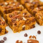 Vegan Pumpkin Chocolate Chip Oat Bars (Gluten Free)