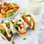 Sheet Pan Fajitas with White Queso (Vegan)